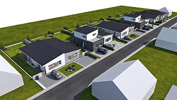 výstavba domov v Lábe
